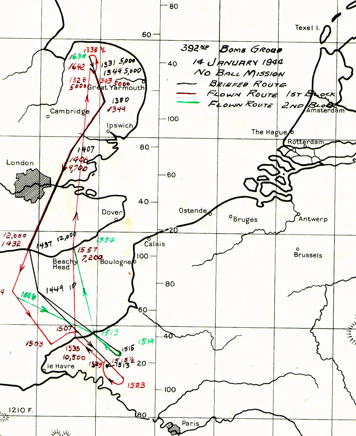 14Jan44 route map