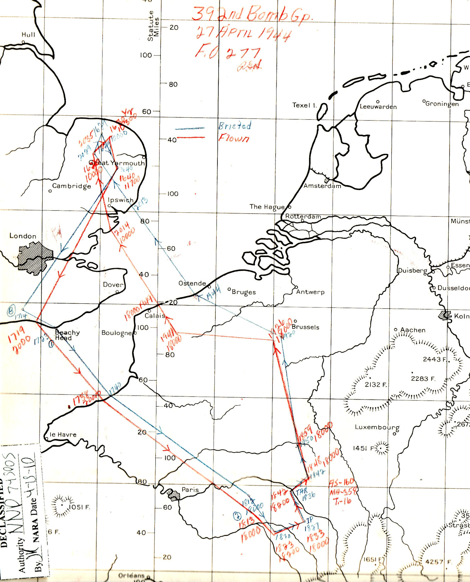 27Apr44 route map