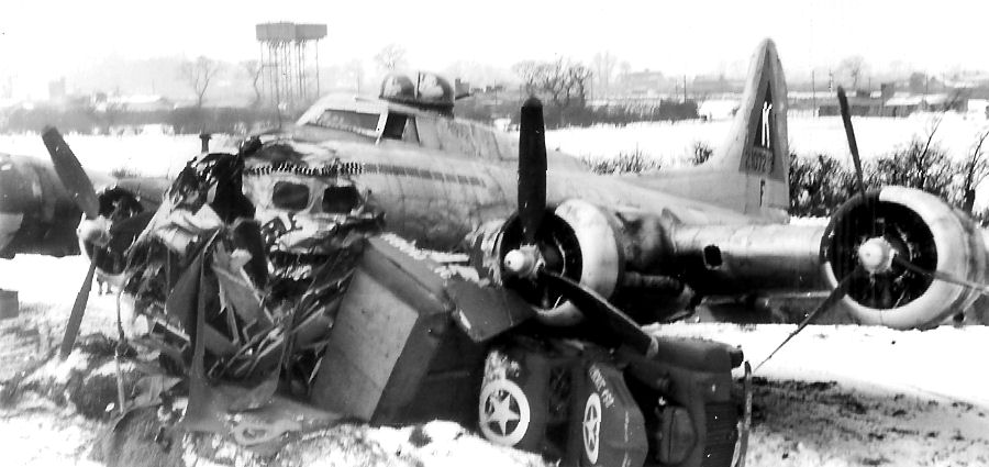 B17 crash 23 Jan 45 - 2