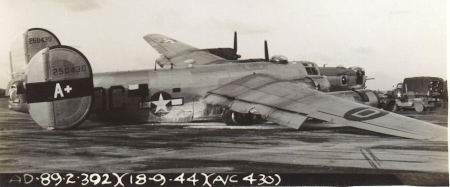 Old Standby, accident 18 Sep 44