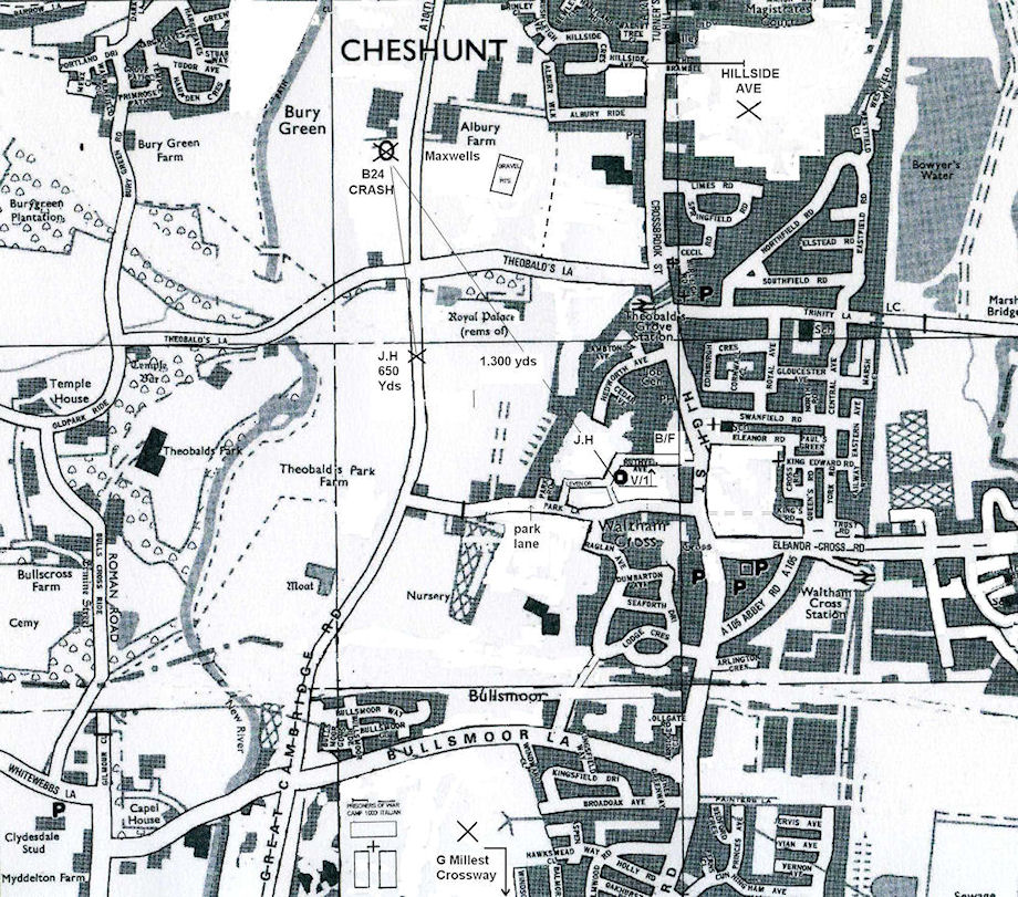 map of Cheshunt