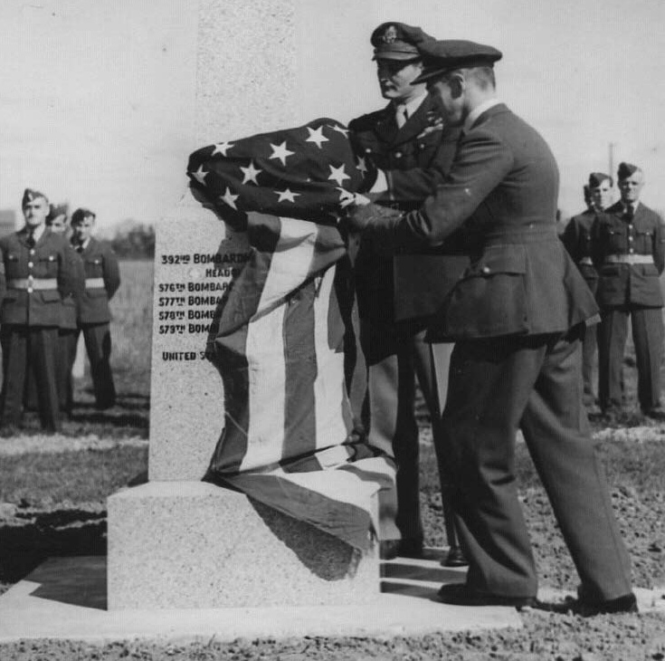 Wendling Memorial Dedication in 1945